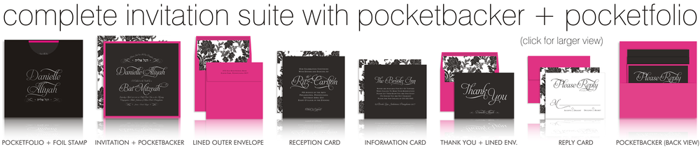 invitations suites + pockets