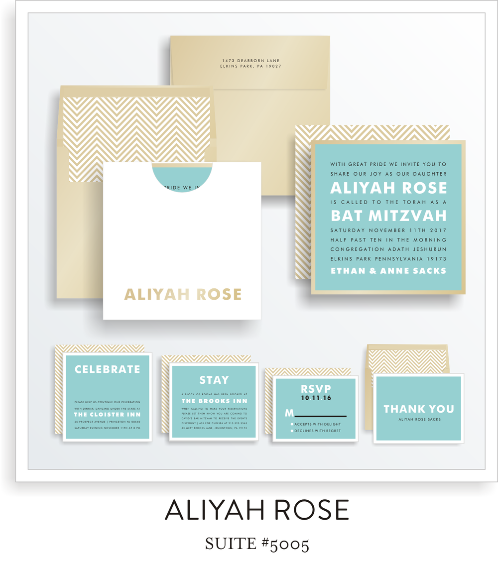 bat mitzvah invitations 5005