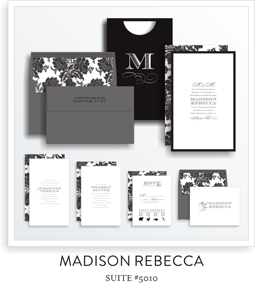 bat mitzvah invitations 5010
