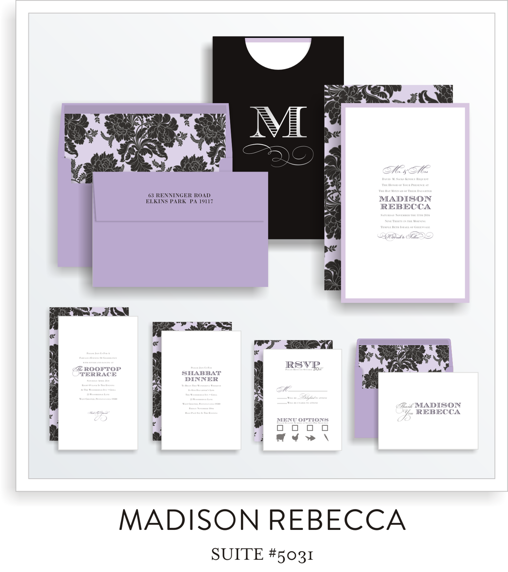 bat mitzvah invitations 5031
