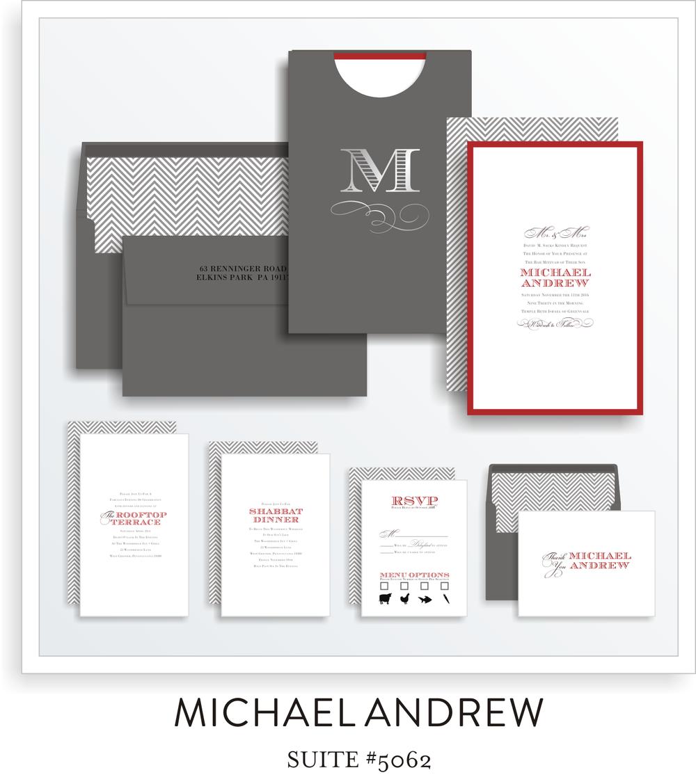 bar mitzvah invitation suite 5062