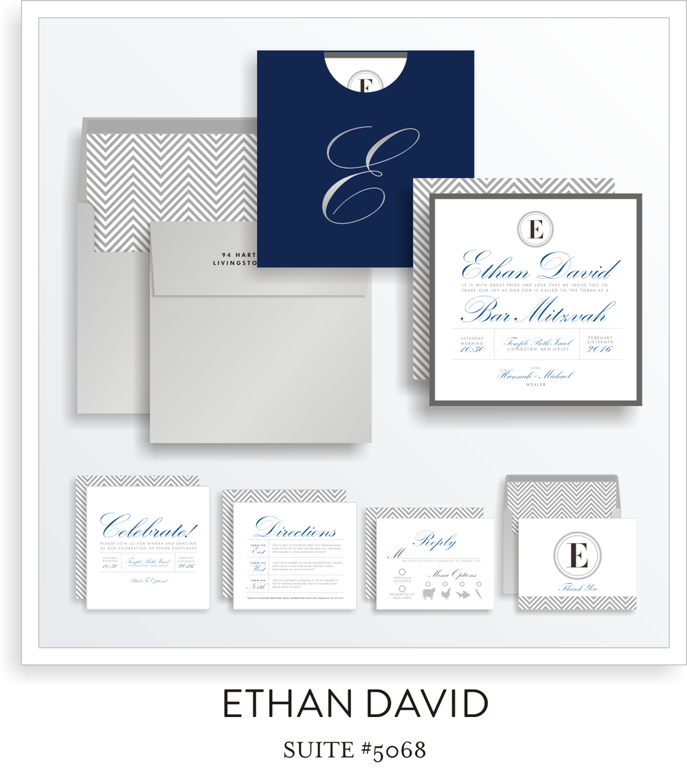 bar mitzvah invitation suite 5068