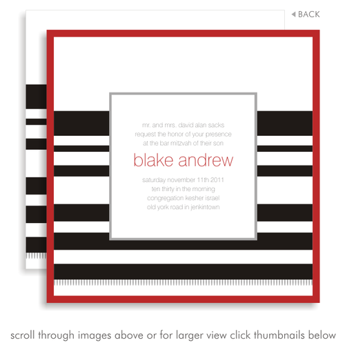 Blake andrew suite 5056 black and red bar mitzvah invitations 5056 01g solutioingenieria Gallery