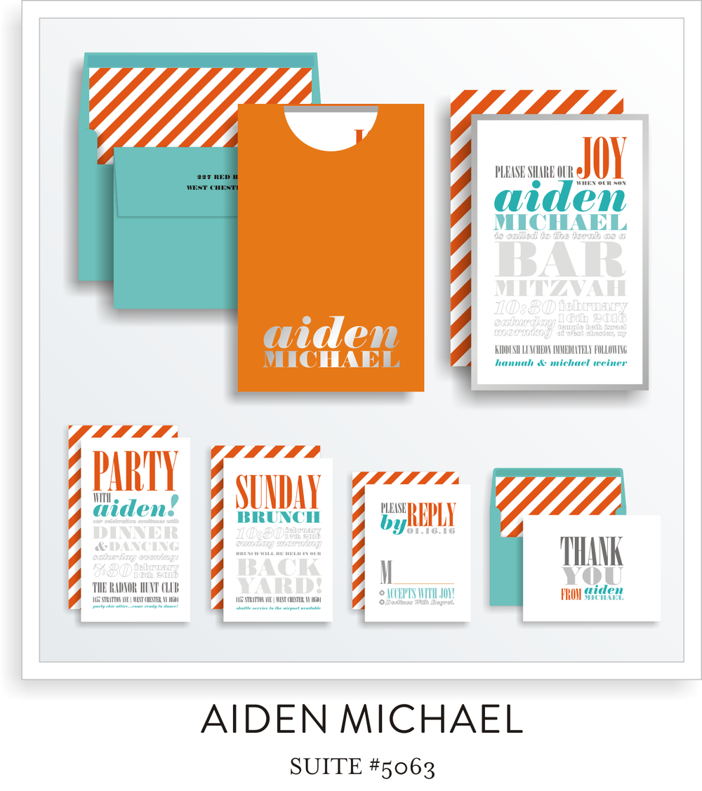 bar mitzvah invitation suite 5063