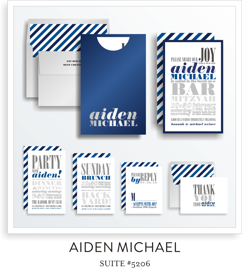 bar mitzvah invitation suite 5206