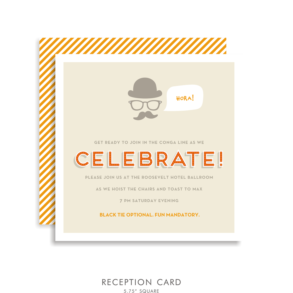 max lee  suite 5212  orange bar mitzvah invitations  u2014 bar mitzvah invitations  u0026 bat mitzvah