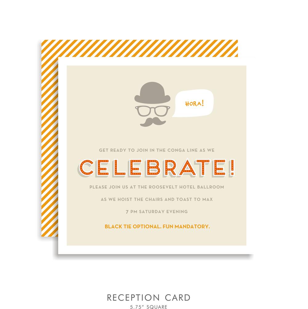 Max lee suite 5212 orange bar mitzvah invitations bar mitzvah 5212 03g solutioingenieria Choice Image