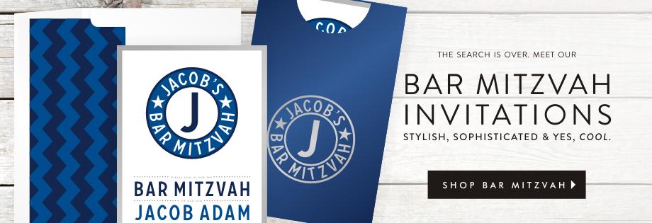 Shop Bar Mitzvah Invitations