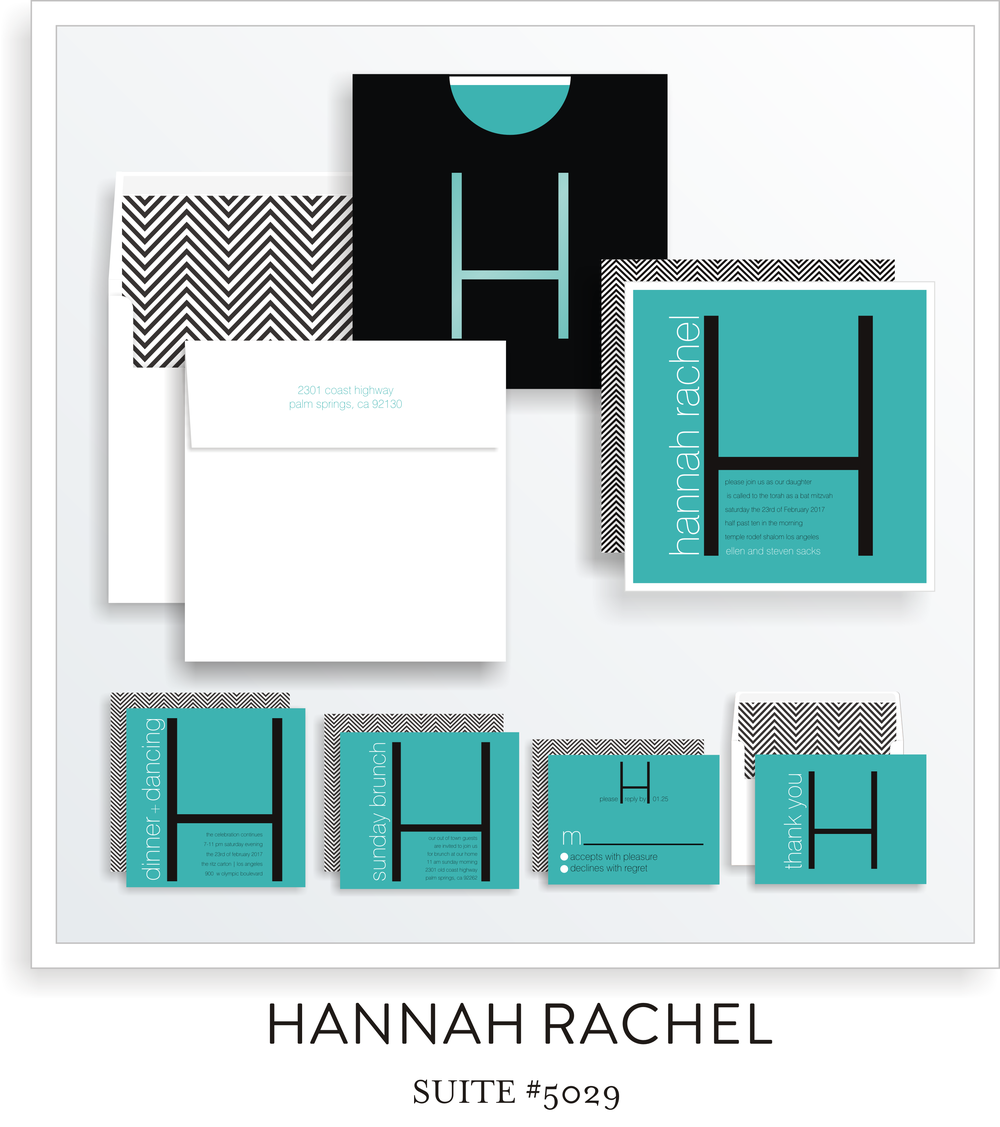 bat mitzvah invitations 5029