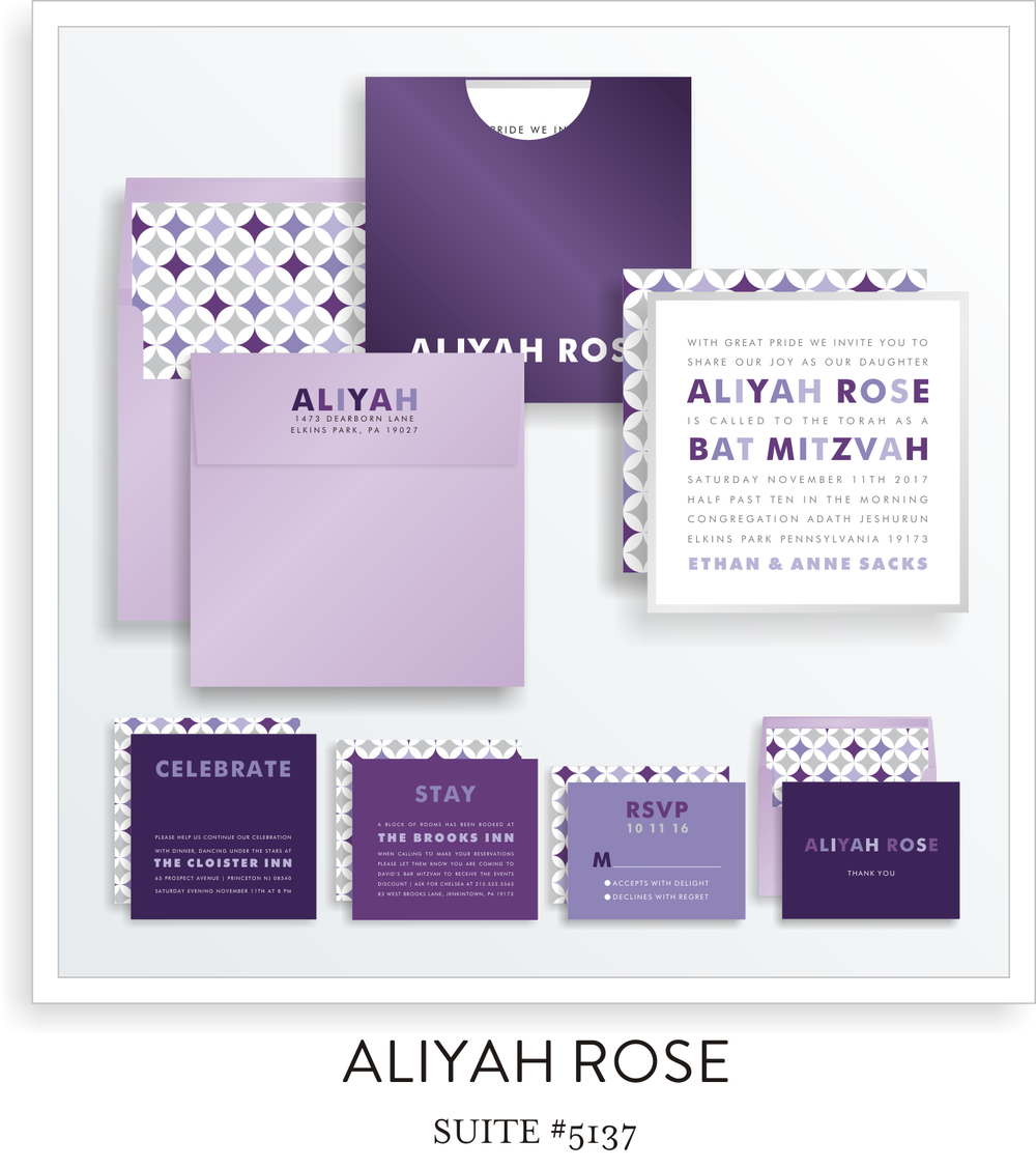 bat mitzvah invitations 5137
