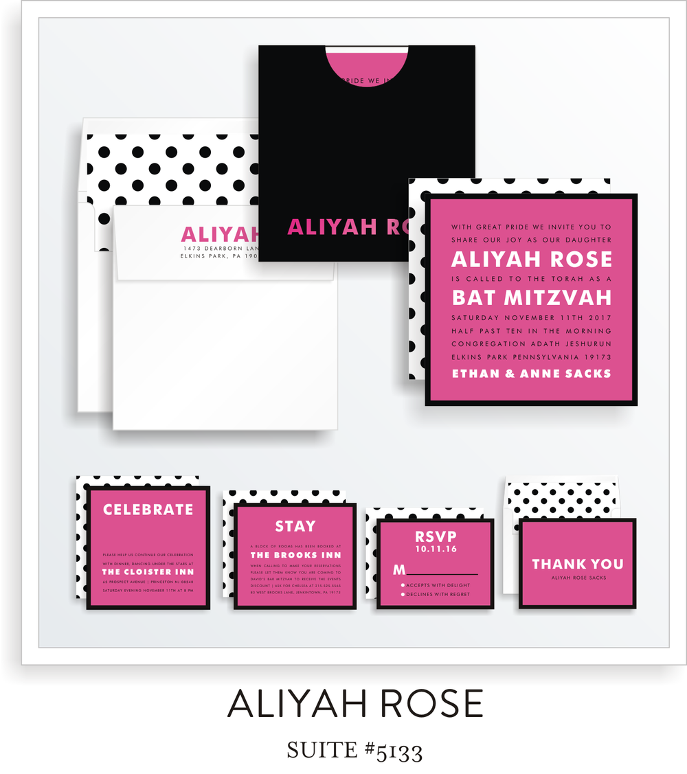 bat mitzvah invitations 5133