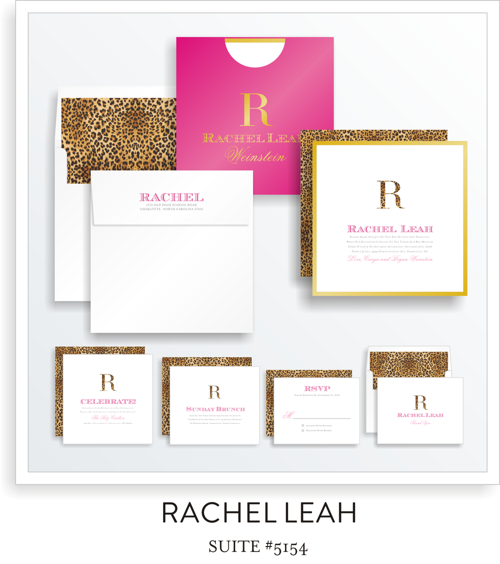 Copy of bat mitzvah invitation suite 5154 - rachel leah