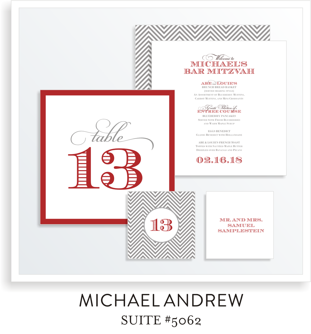 Table Top Decor Bar Mitzvah Suite 5062 - Michael Andrew
