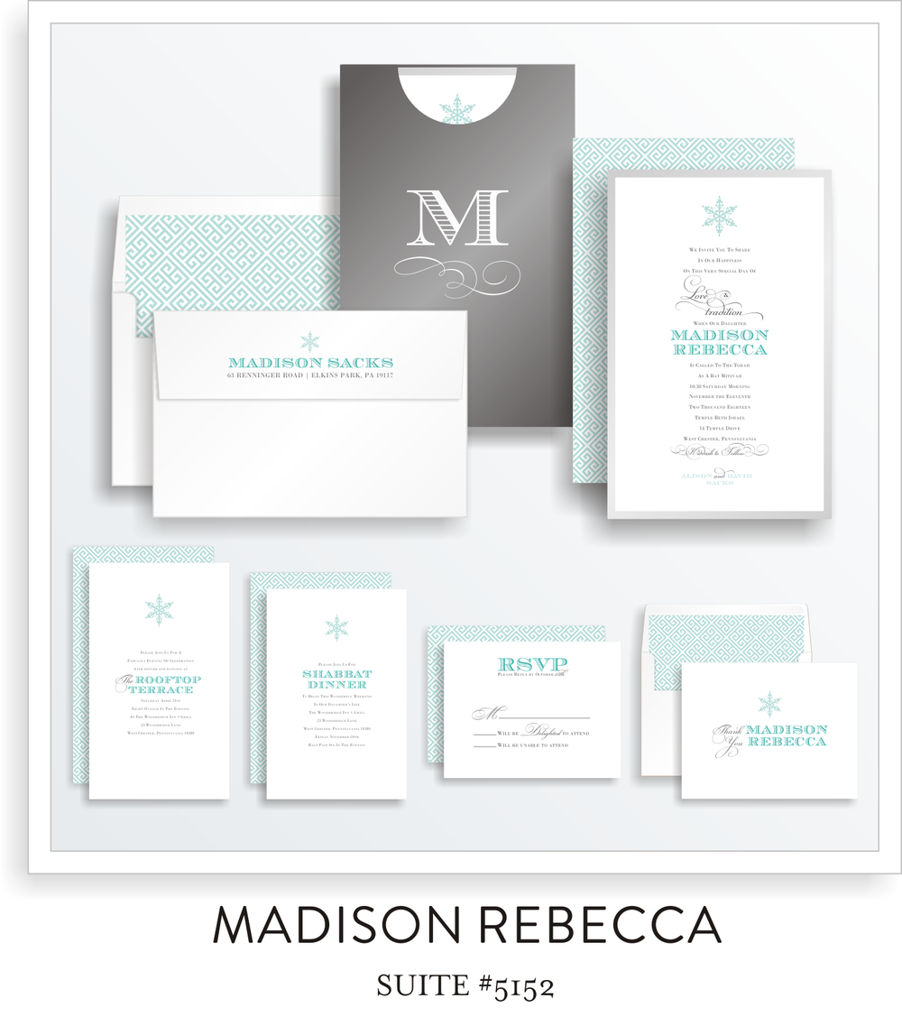Bat Mitzvah Invitation Suite 5152
