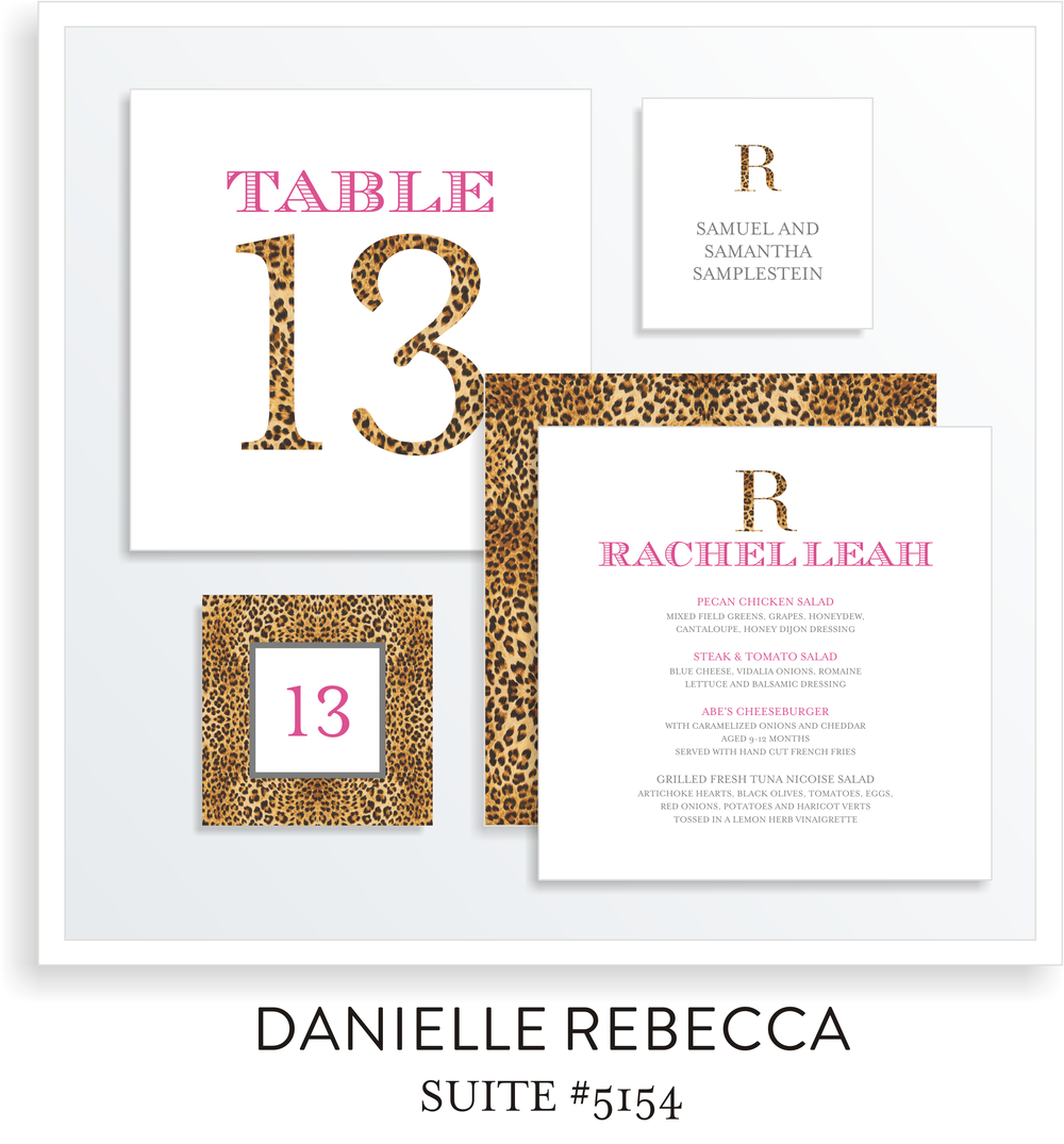 Table Top Decor Bat Mitzvah Suite 5154 - Rachel Leah