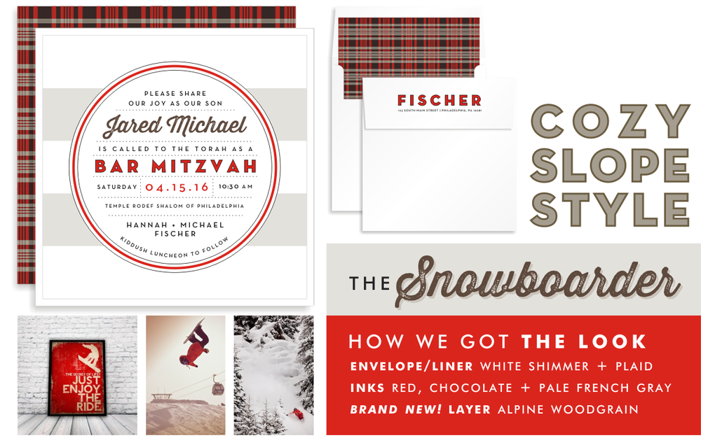 The many faces of mitzvah magic bar mitzvah invitations bat snowboards and surfboards might have similar shapes but the tone each of these invitations sets for the big day couldnt be more different stopboris Gallery