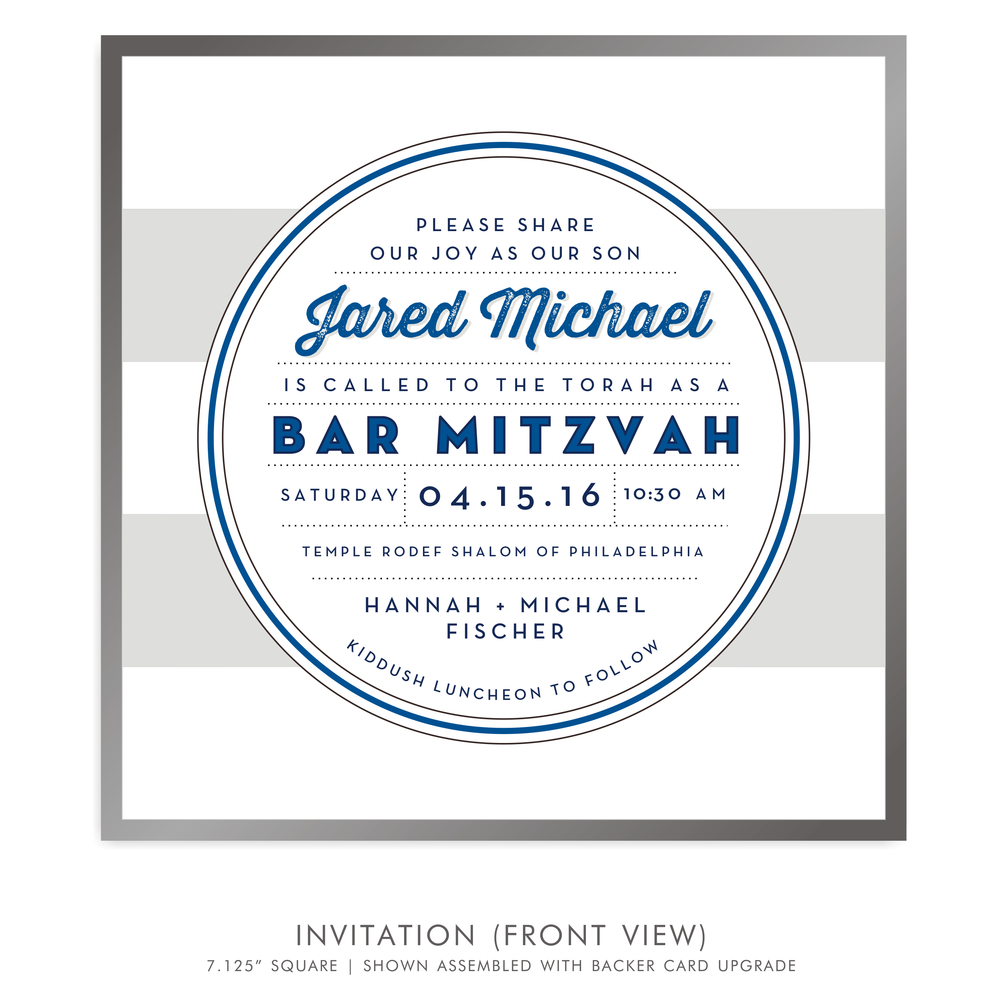 Bar Mitzvah Invitation 5236 - Jared Michael