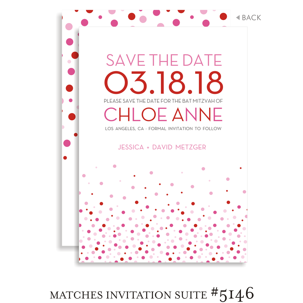 Save the Date Bat Mitzvah Suite 5146 - Chloe Anne