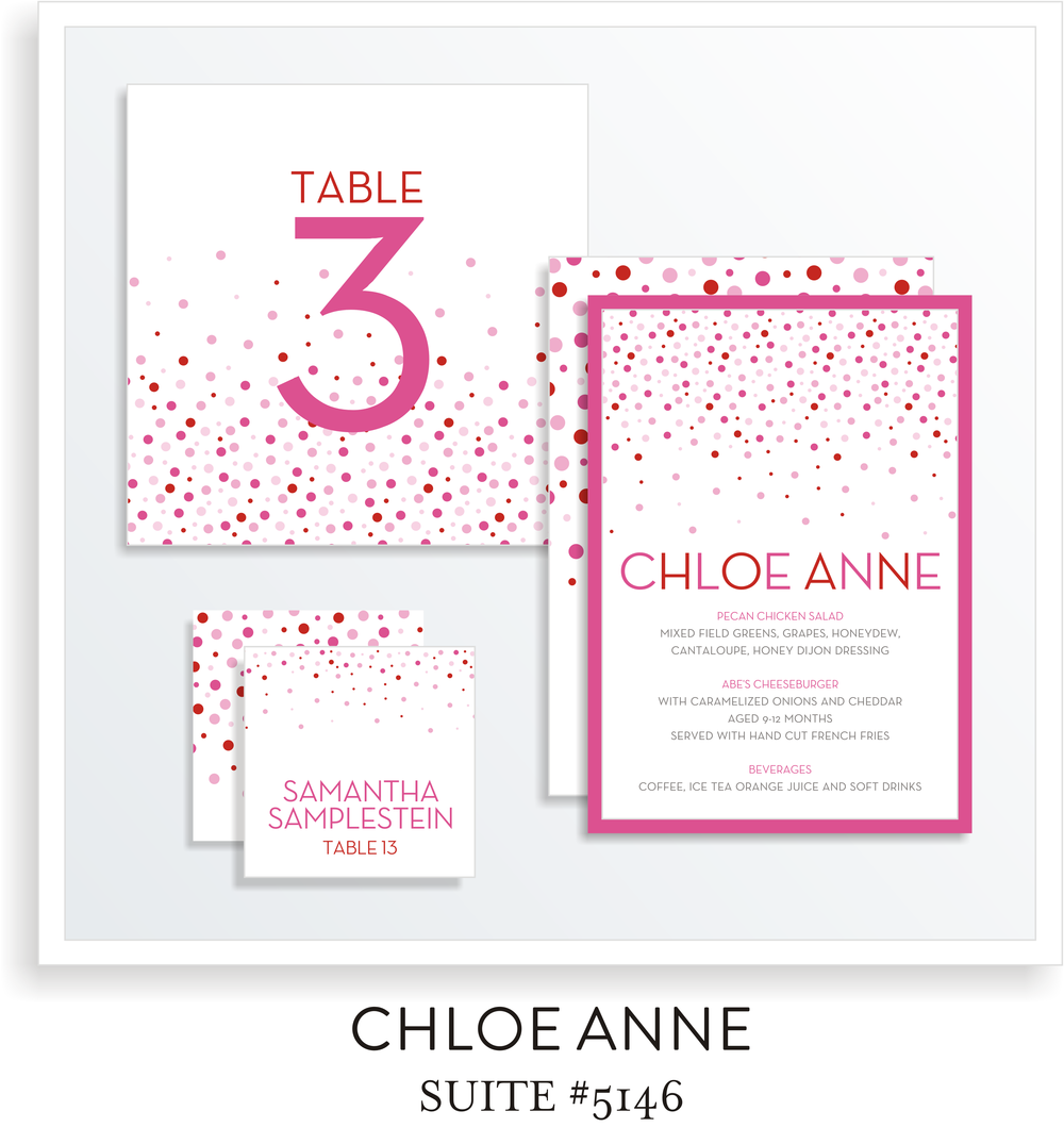 Table Top Decor Bat Mitzvah Suite 5146 - Chloe Anne