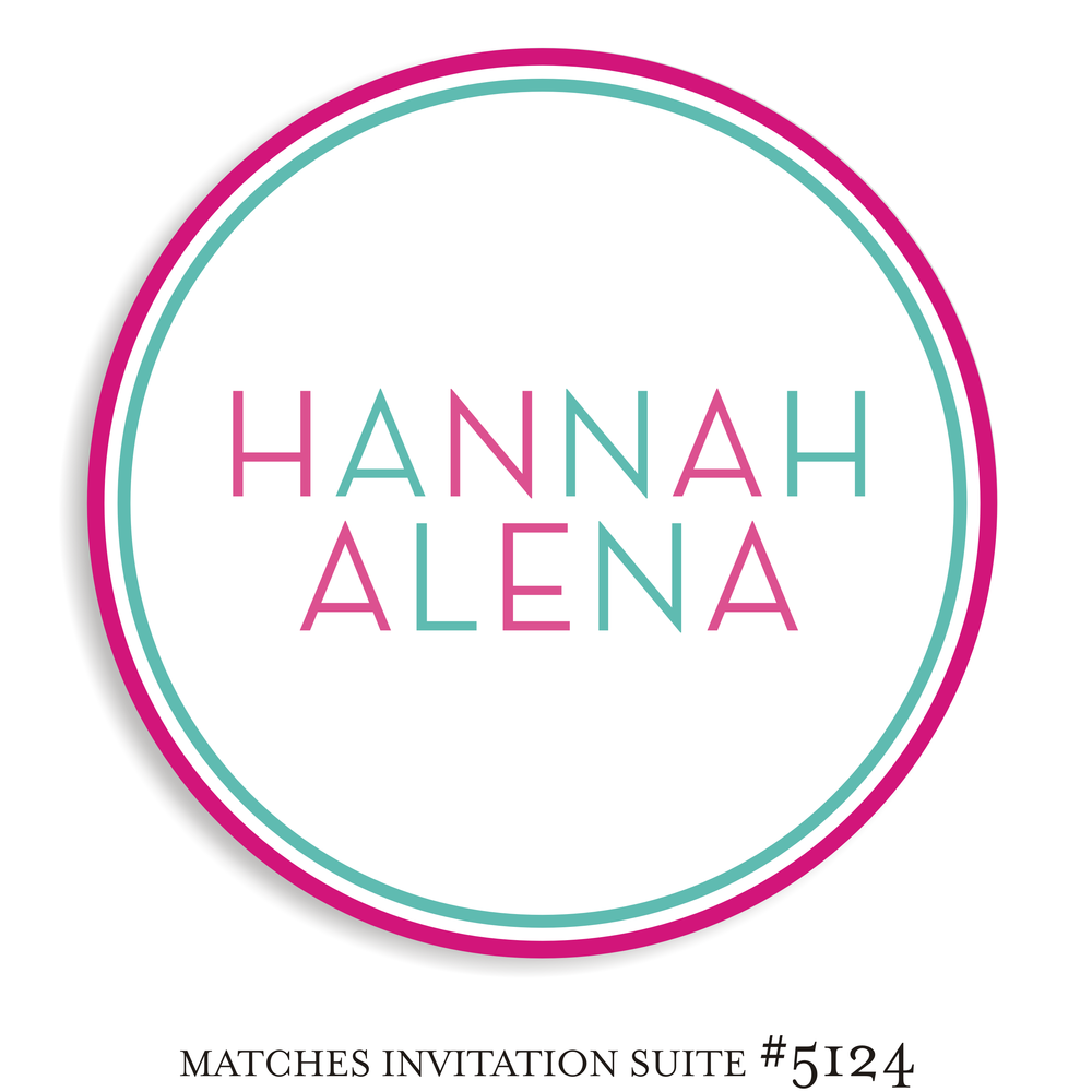 Dancefloor Decal Bat Mitzvah Suite 5124 - Hannah Alena