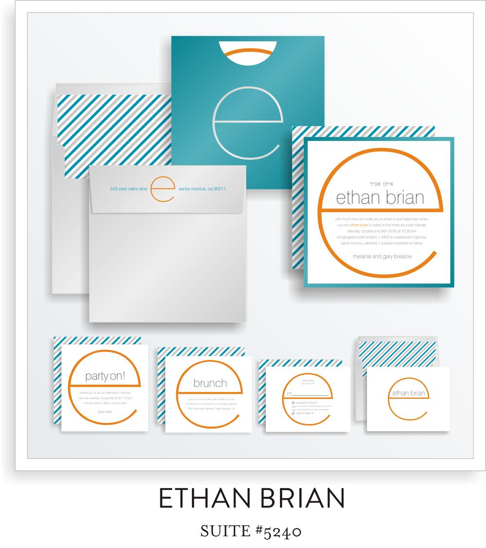 Bar Mitzvah Invitation Suite 5240 - Ethan Brian