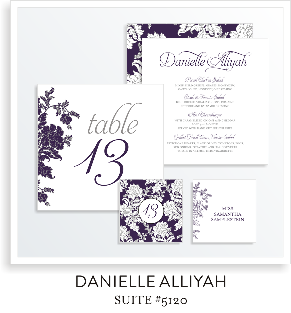 Table Top Decor Bat Mitzvah Suite 5120 - Danielle Alliyah
