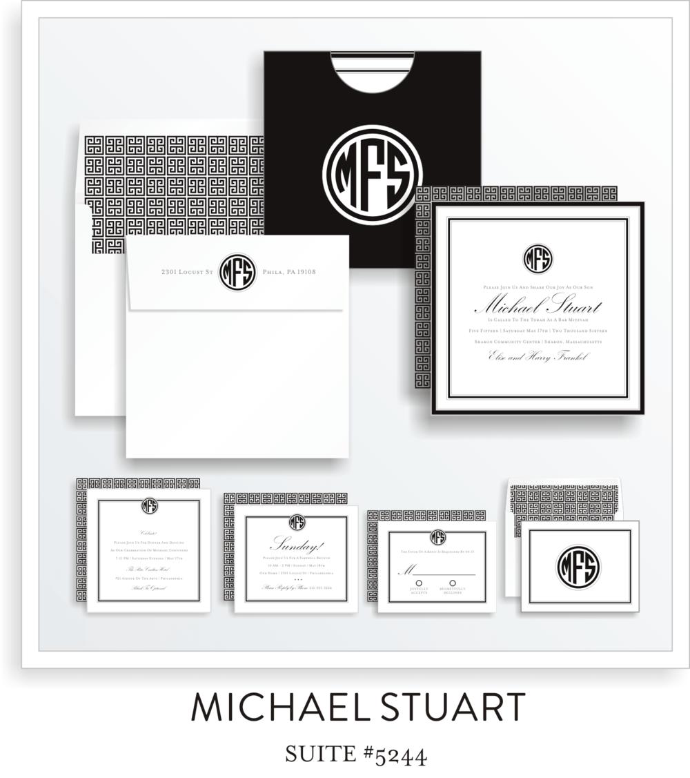 Bar Mitzvah Invitation Suite 5244 - Michael Stuart