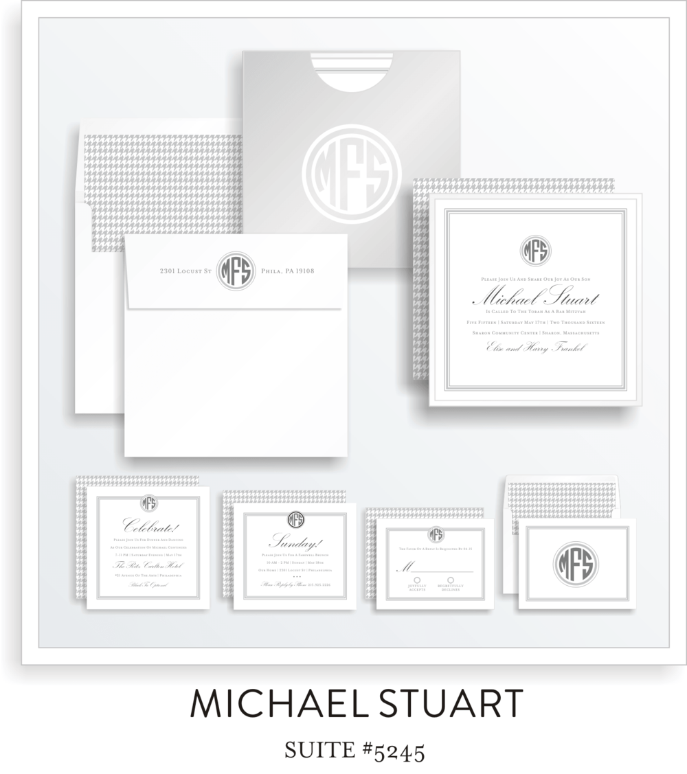 Copy of Copy of Bar Mitzvah Invitation Suite 5245 - Michael Stuart