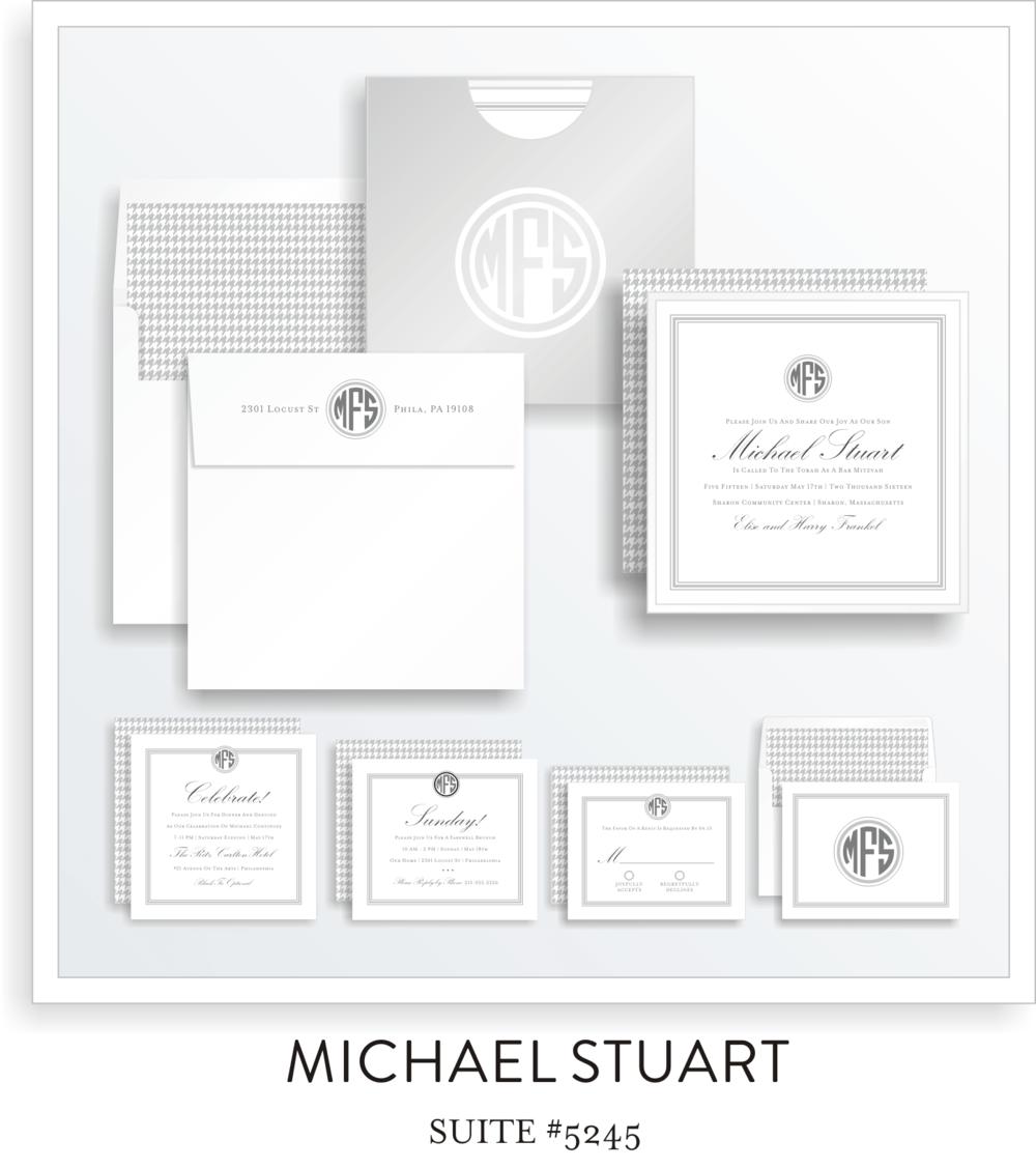 Bar Mitzvah Invitation Suite 5245 - Michael Stuart