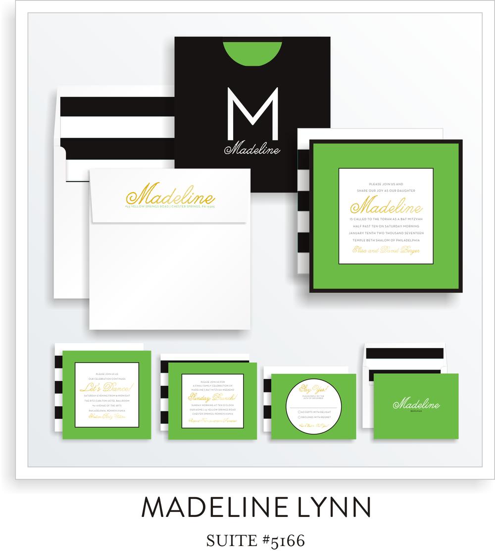 Bat Mitzvah Invitation - Madeline Lynn