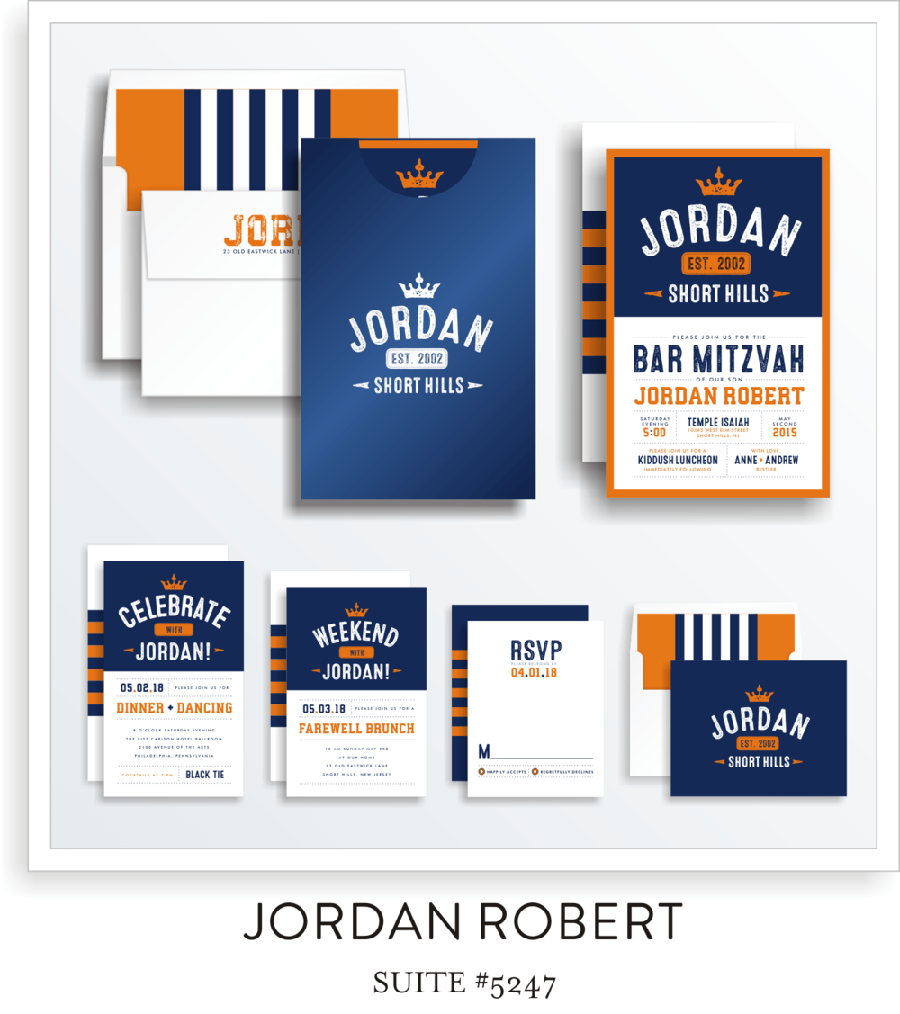 Bar Mitzvah Invitation Suite 5247 - Jordan Robert