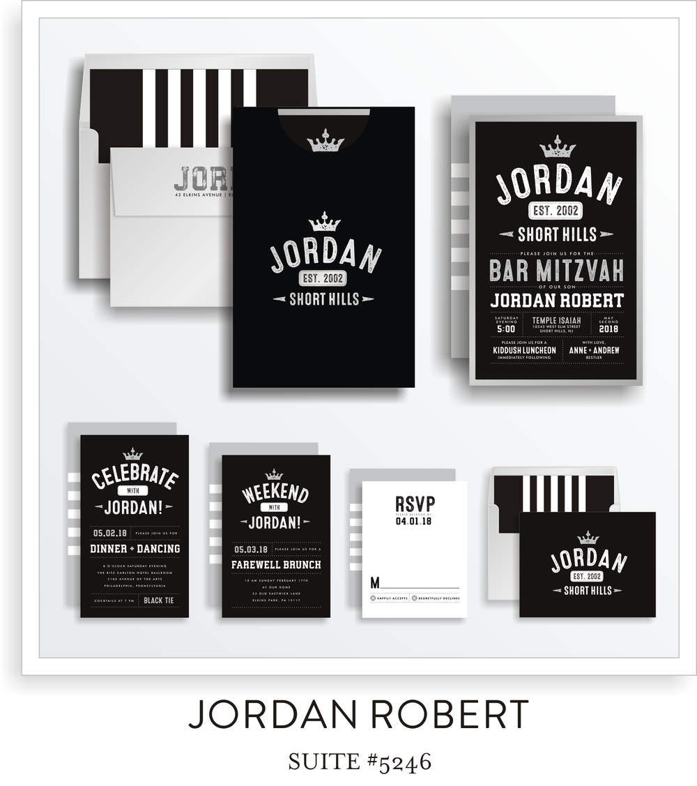 Copy of Bar Mitzvah Invitation Suite 5246 - Jordan Robert