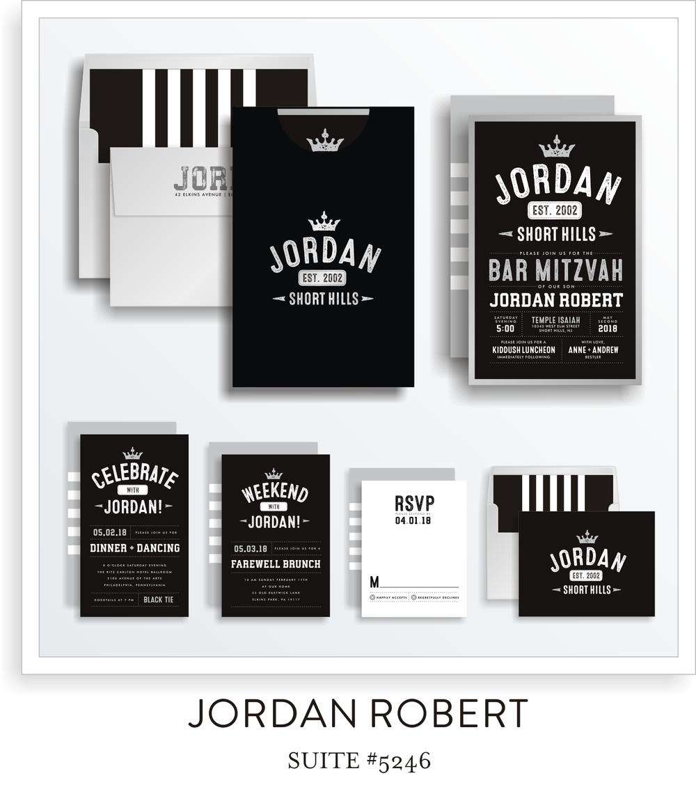 Bar Mitzvah Invitation Suite 5246 - Jordan Robert
