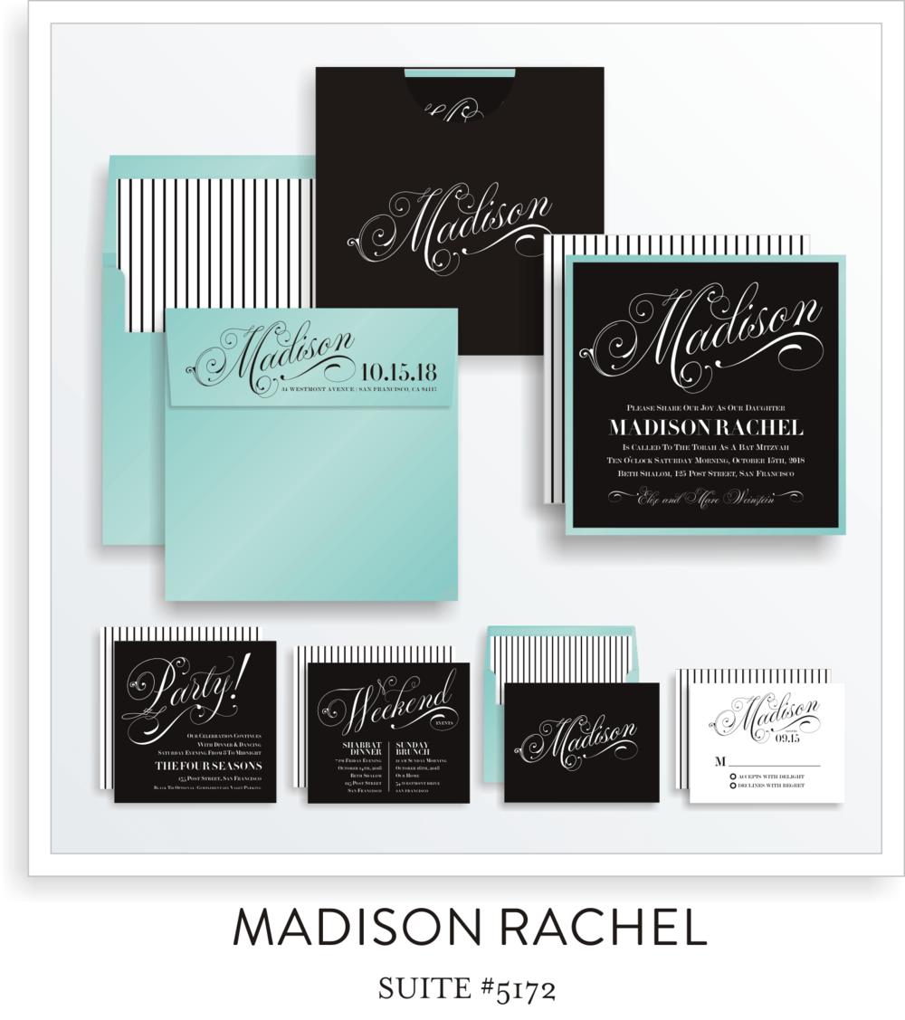 Copy of Copy of Bat Mitzvah Invitation Suite 5172 - Madison Rachel