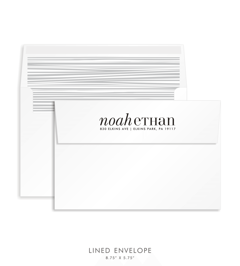 Bar Mitzvah Custom Envelope 5249 - Noah Ethan
