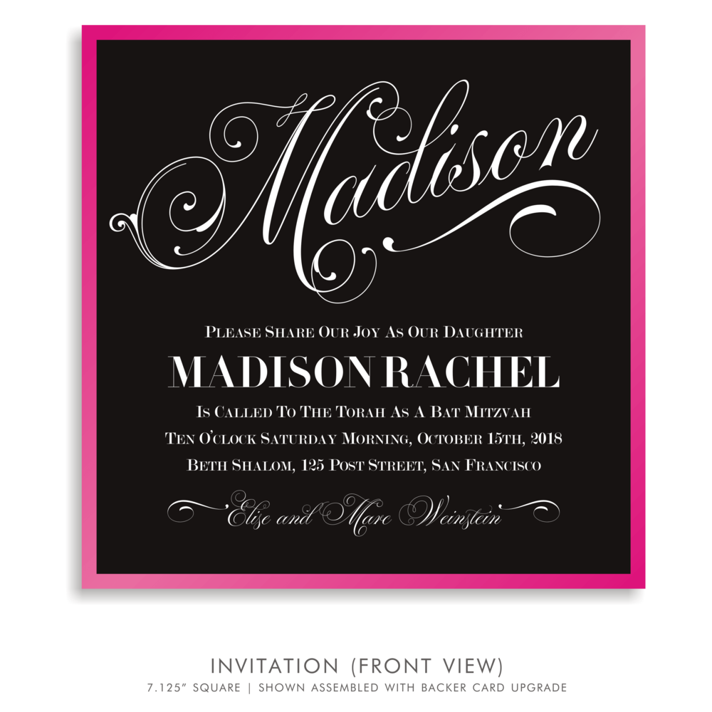 Bat Mitzvah Invitation 5173 - Madison Rachel