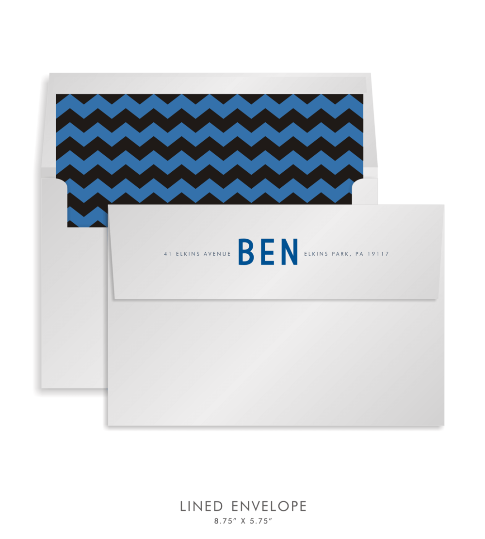 Bar Mitzvah Custom Envelope 5250 - Benjamin Jacob