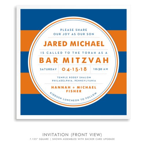 Jared michael suite 5251 blue and orange bar mitzvah invitations 5251 01g solutioingenieria Choice Image