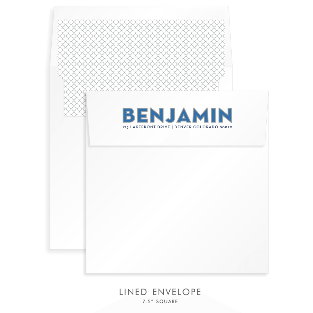 Bar Mitzvah Custom Envelope 5252 - Benjamin Evan