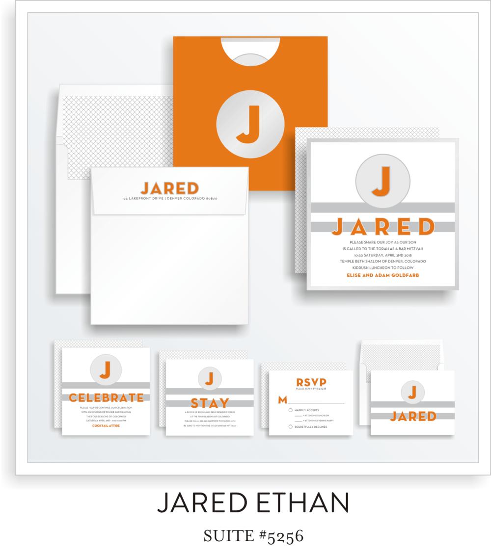 Bar Mitzvah Invitation Suite 5256 - Jared Ethan