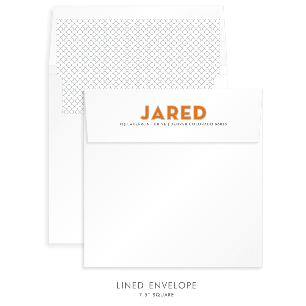 Bar Mitzvah Custom Envelope 5256 - Jared Ethan
