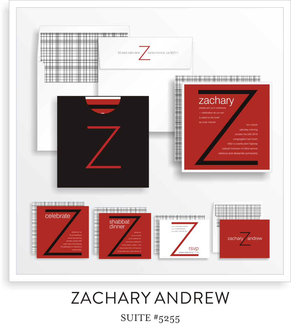 Copy of Copy of Bar Mitzvah Invitation Suite 5255 - Zachary Andrew