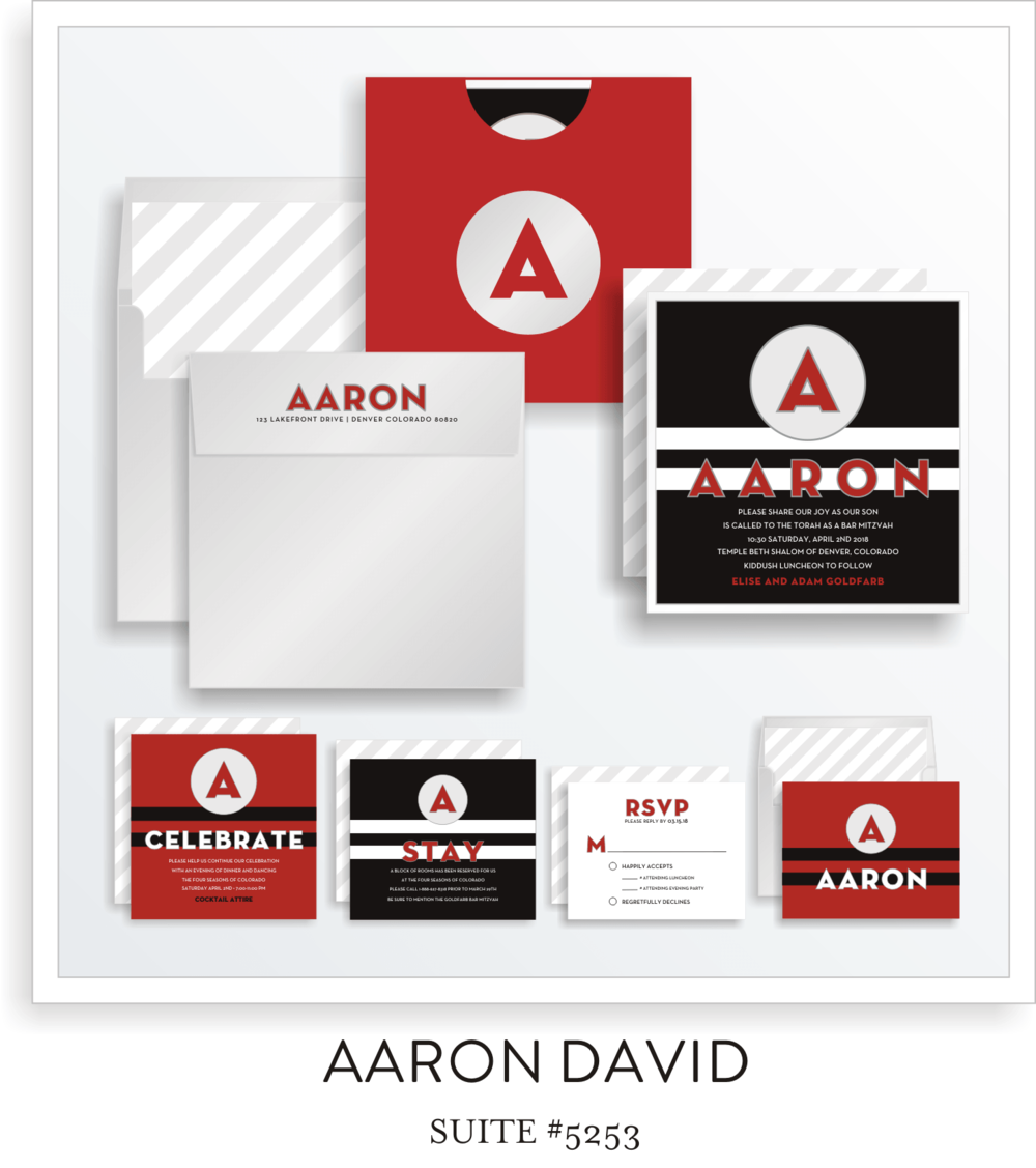 Copy of <a href=/bar-mitzvah-invitations-5253>Suite Details→</a><strong><a href=/aaron-david-in-colors>see more colors→</a></strong>