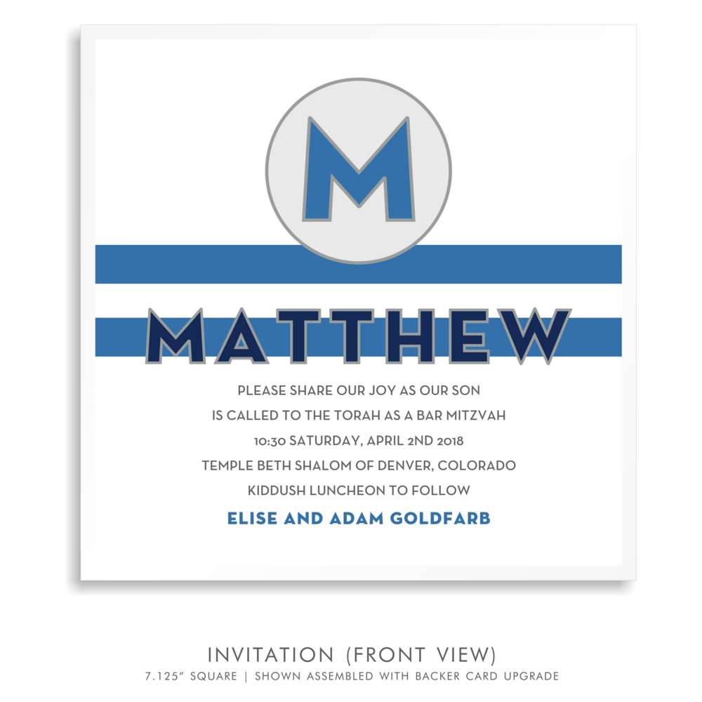 Bar Mitzvah Invitation 5257 - Matthew Jared