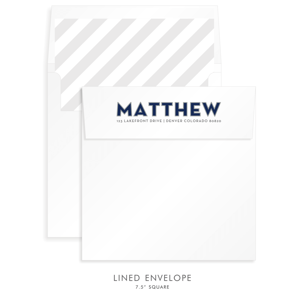 Bar Mitzvah Custom Envelope 5257 - Matthew Jared