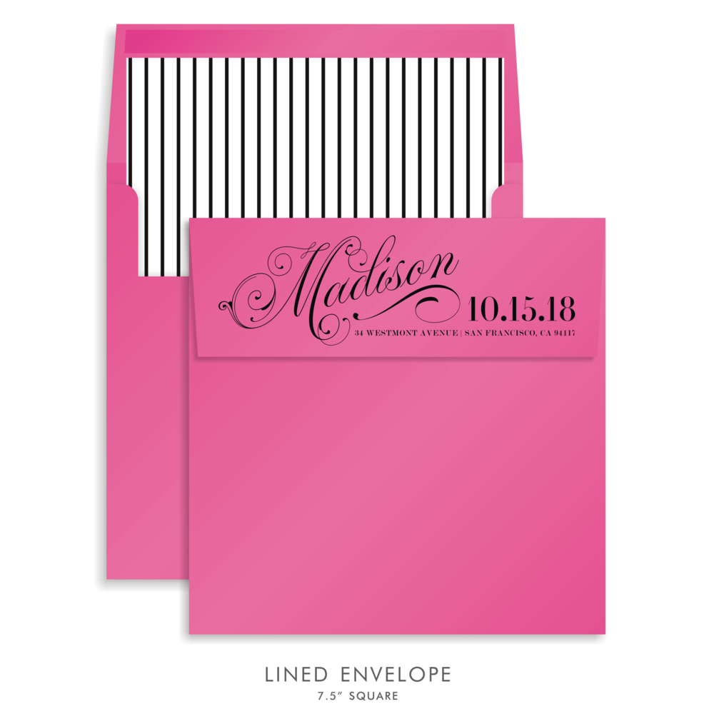 Bat Mitzvah Custom Envelope 5173 - Madison Rachel