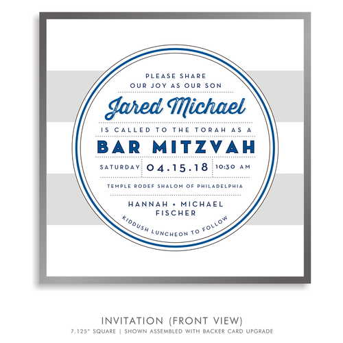 Jared michael suite 5236 blue and white bar mitzvah invitations 5236 01g solutioingenieria Gallery