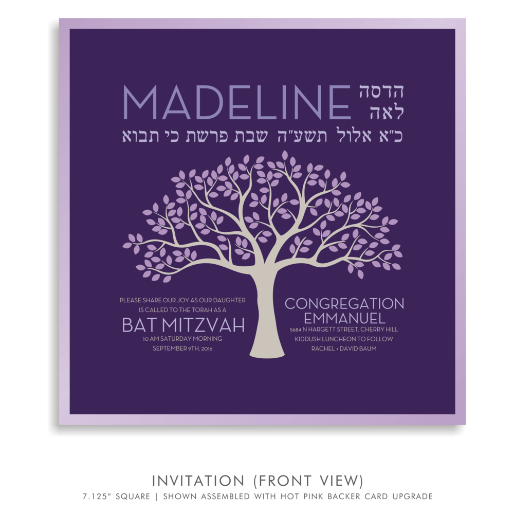 Bat Mitzvah Invitation 5189 - Madeline Rachel