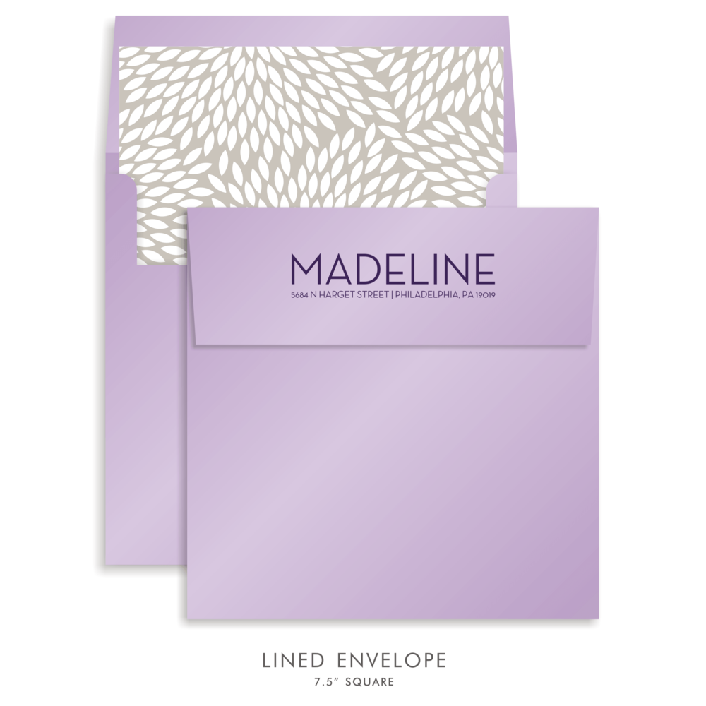 Bat Mitzvah Custom Envelope 5189 - Madeline Rachel