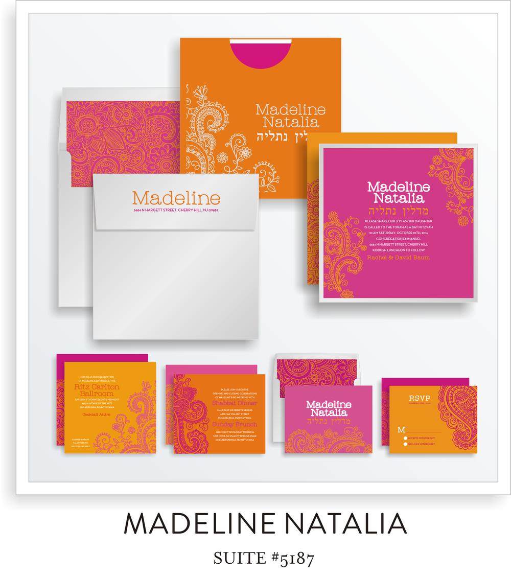 Madeline Natalia Bat Mitzvah Invitation